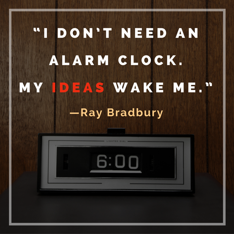 Ray Bradbury quote meme writing ideas